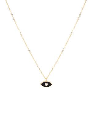 COMFORT ZONE - BLACK EYE - Minimal Eye Necklace
