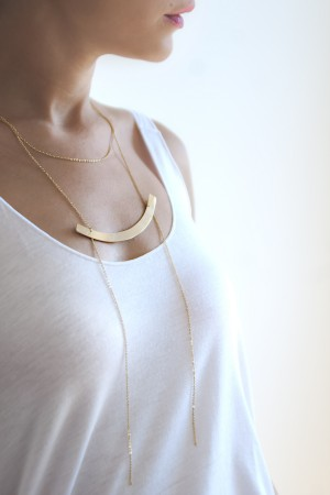 BAZAAR - BLADE - Gold Filled Necklace (1)