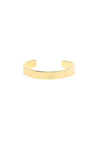 COMFORT ZONE - BLOSSOM CUFF - Lotus Engraved Bracelet