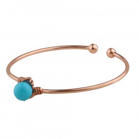 PETITE JEWELRY - BLUE BALL - Hand Figured Adjustable Bracelet