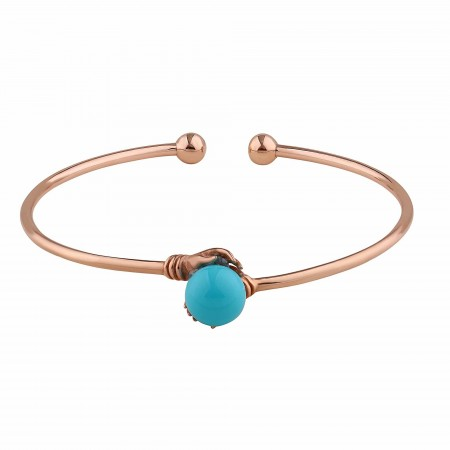 PETITE JEWELRY - BLUE BALL - Hand Figured Adjustable Bracelet (1)