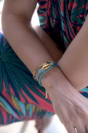 COMFORT ZONE - BLUE BEAN - Wrap Bracelet (1)