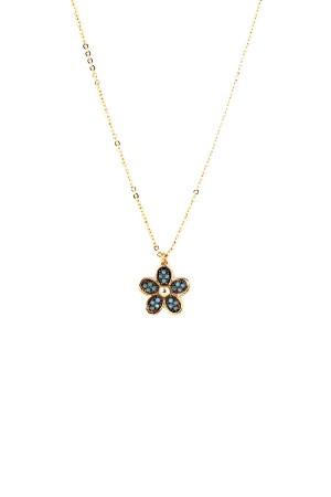 BAZAAR - BLUE DAISY - Minimal Çiçek Kolye