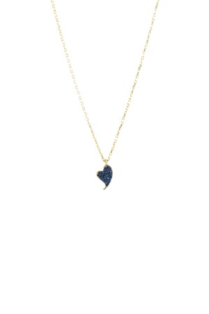 PETITE FAMILY - BLUE DIAMOND BEAT - Blue Sapphire Pendant