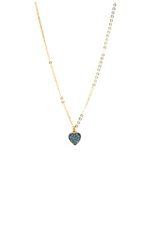 COMFORT ZONE - BLUE HEART - Minimal Kalp Kolye