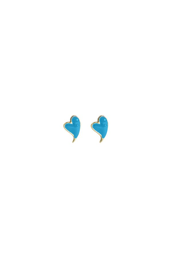 BLUE HEARTBEAT - Mavi Mineli Küpe