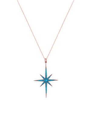 SHOW TIME - BLUE POLESTAR - Enamel Necklace