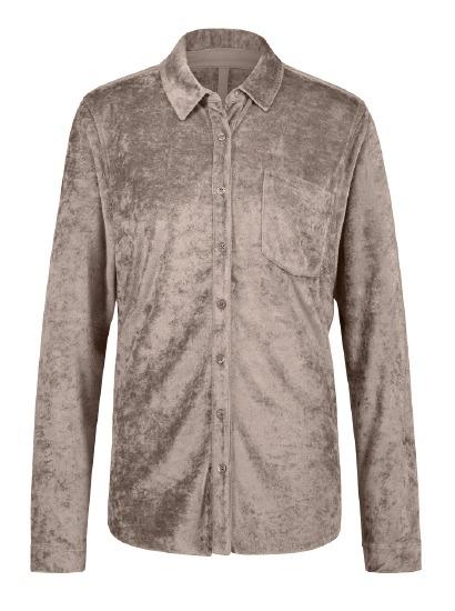 BORDO - Kadife Bluz