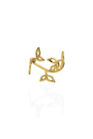 BAZAAR - BRANCH OF FLOWER GOLD - Adjustable Ring