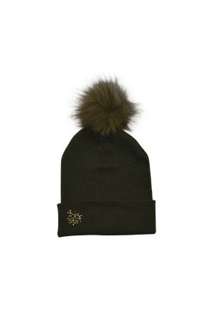 HAPPY SEASONS - BRANCH - Pompom Embellished Wool Beanie