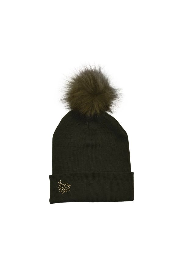 BRANCH - Pompom Embellished Wool Beanie
