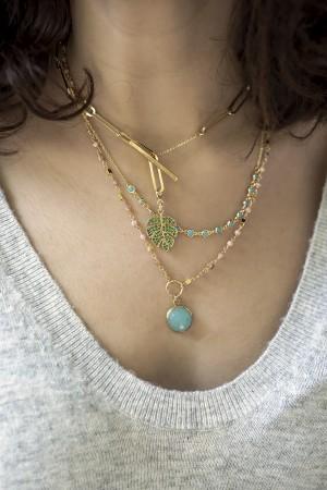 BREEZE - Blue CZ Necklace - Thumbnail