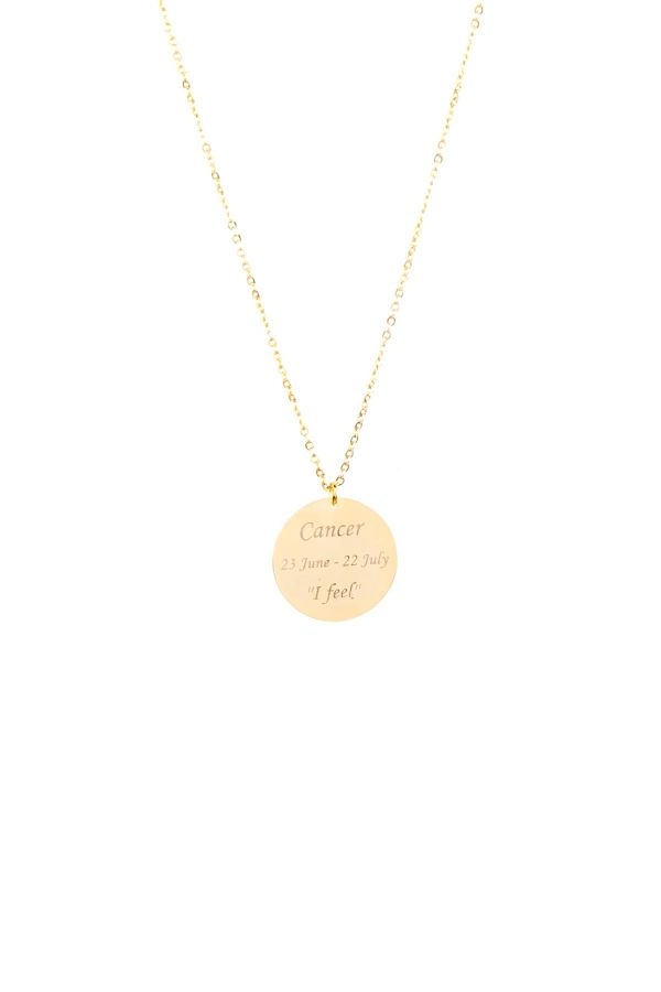 CANCER - Personalized Star Sign Necklace