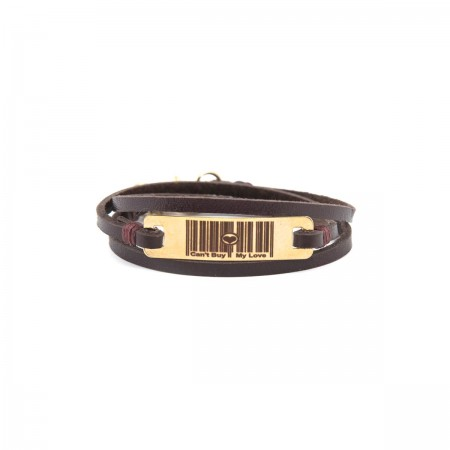 PLAYGROUND - CAN'T BUY MY LOVE - Leather Wrap Bracelet