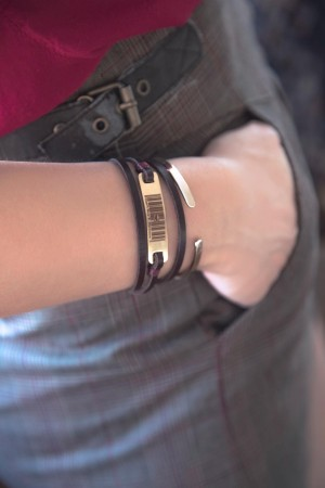 PLAYGROUND - CAN'T BUY MY LOVE - Leather Wrap Bracelet (1)