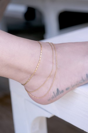 COMFORT ZONE - CAPRI - Multilayered Ankle Bracelet (1)