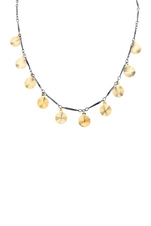 COMFORT ZONE - CARA - Two Toned Coin Necklace
