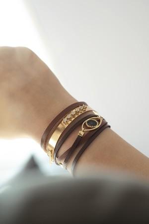 SHOW TIME - CHAMELEON - Leather Wrap Bracelet (1)