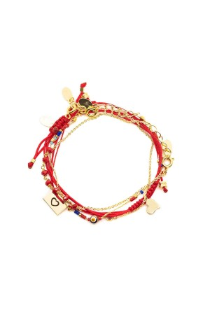 COMFORT ZONE - CHAOS - Red - Set of Bracelet