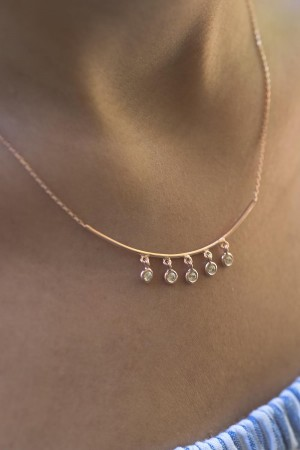 PETITE JEWELRY - CHARMING - Dangle Brilliant Necklace (1)