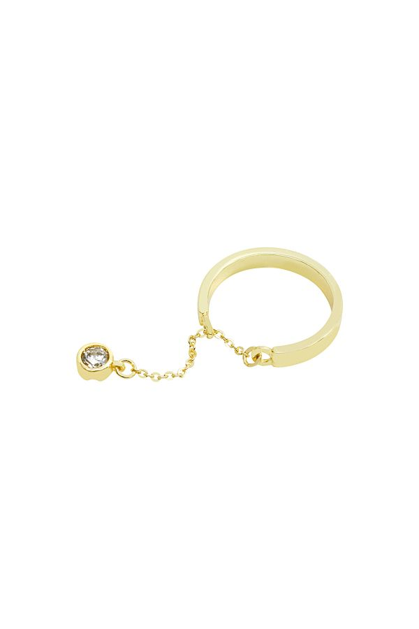 CHARMING SOLITAIRE - Dangle Ring