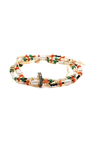 SHOW TIME - CHEERFULLY - Layered Elastic Bracelet