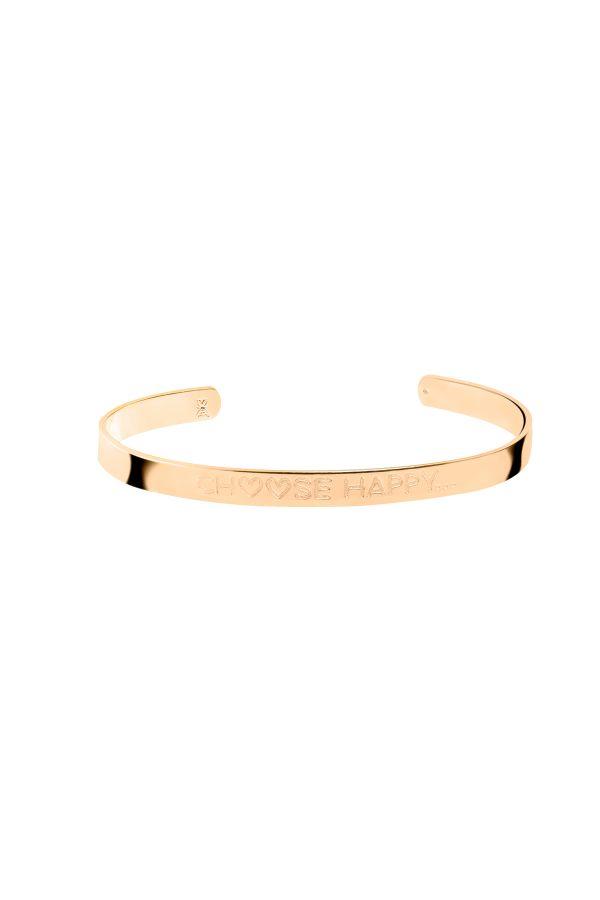 CHOOSE HAPPY - Motto Bracelet