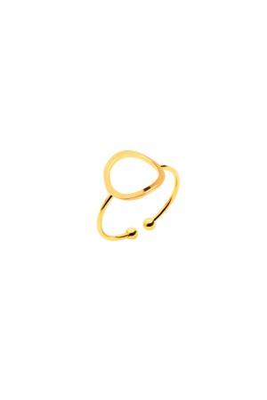 COMFORT ZONE - CIRCLE - Altın Kaplama Yüzük