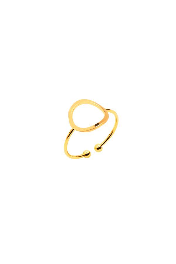 CIRCLE - Altın Kaplama Yüzük