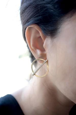 BAZAAR - CIRCLE - Hoop Earrings (1)