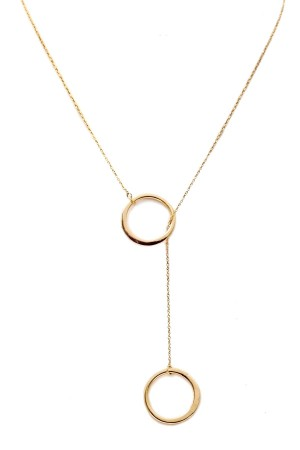 BAZAAR - CIRCLE IN CIRCLE - Lariat Necklace
