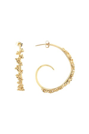 PLAYGROUND - CIRCLE OF FLOWER - Hoop Earrings