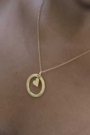 PETITE JEWELRY - CIRCLE OF LOVE - Yazılı Halka Kolye