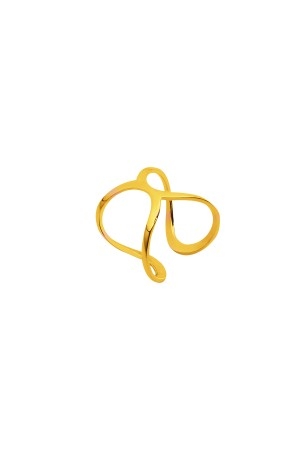 COMFORT ZONE - CIRCLES - Gold Color Adjustable Ring