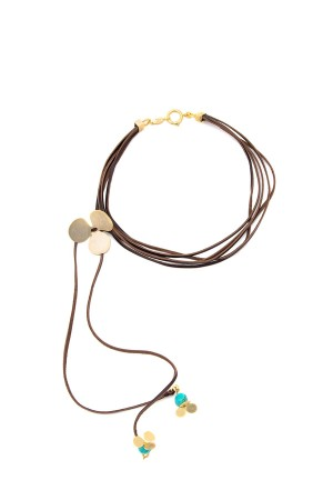 BAZAAR - CLOVER CHOKER - Leather Necklace