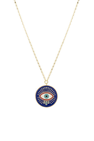 SHOW TIME - COBALT - Medallion Necklace
