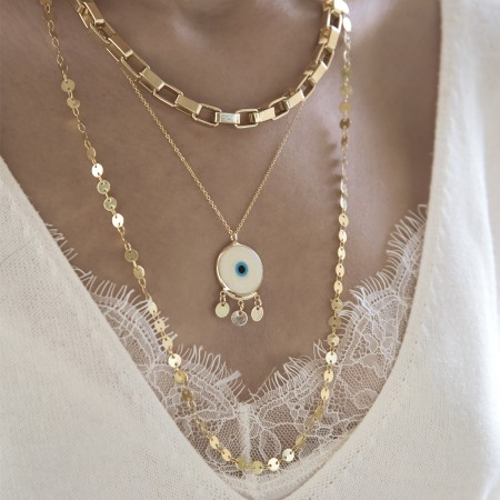 COMFORT ZONE - COIN CHAIN - Customized Coin Chain Necklace (1)