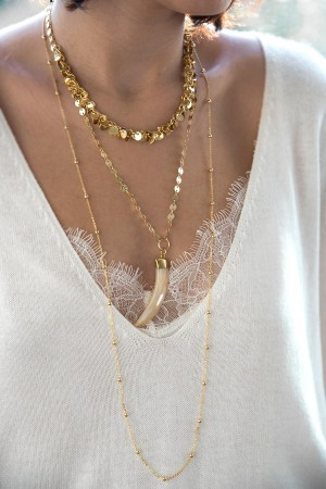 COMFORT ZONE - COINS - Short Coin Chain Necklace (1)