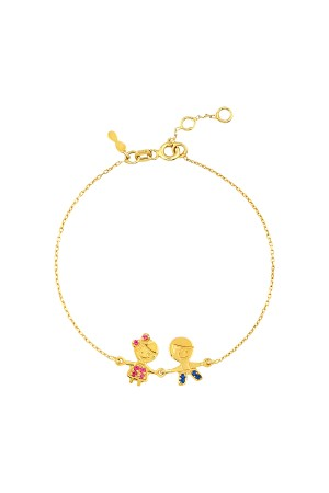 PETITE FAMILY - COLORFUL COUPLE - Boy and Girl Bracelet with CZ