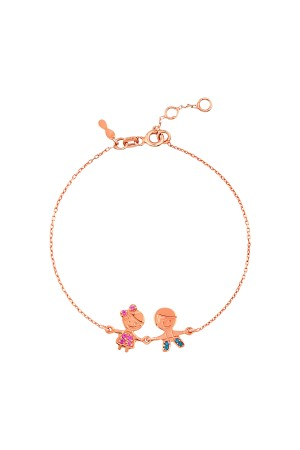 PETITE FAMILY - COLORFUL COUPLE - Boy and Girl Bracelet with CZ (1)