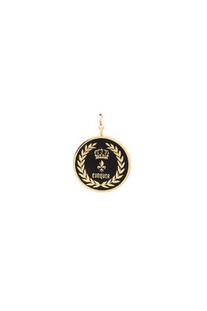 PETIT CHARM - CONQUER - Black Enamel Medal Charm