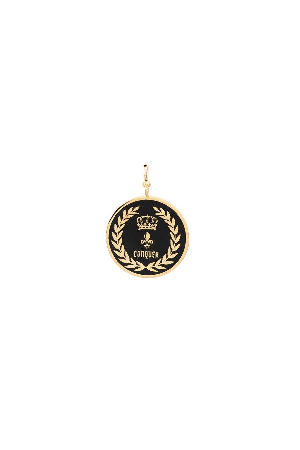 CONQUER - Siyah Mineli Madalyon