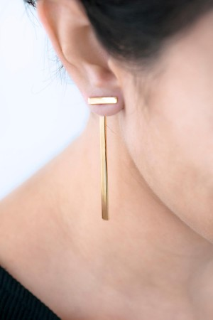 COMFORT ZONE - CONTEMPORARY - Bar Earrings (1)