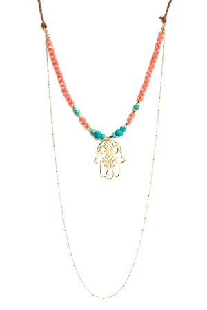 PLAYGROUND - CORAL - Multilayered Necklace