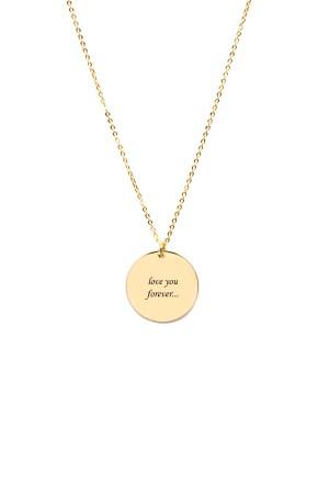 PETITE JEWELRY - CORSIVA - Customized Disc Pendant Necklace