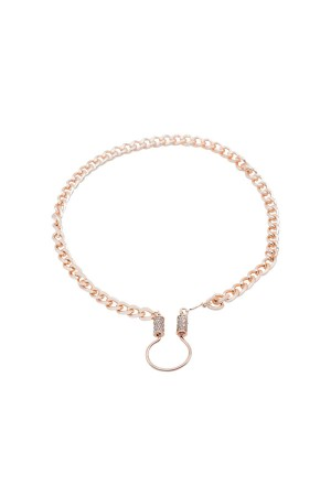 PETIT CHARM - CUBA - CZ Clasped Chain Necklace (1)