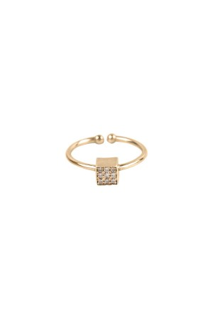 COMFORT ZONE - CUBE RING - Adjustable Ring