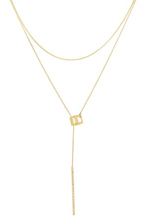 COMFORT ZONE - CUBICAL BAR - Layered Bar Necklace