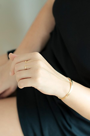COMFORT ZONE - CUFF RING - Hand Chain (1)