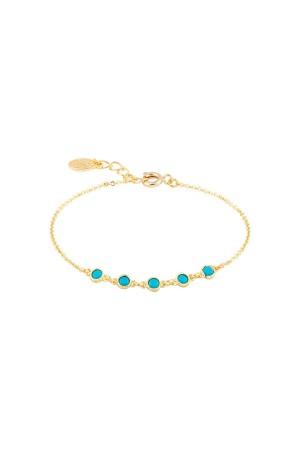 COMFORT ZONE - CYAN - Turquoise CZ Bracelet